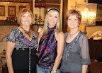 Kay Stromberg, auction chair and party organizer; Donna Moss, That's Haute owner; and event Sharon Mayes, Shining Stars Luncheon chairwoman.