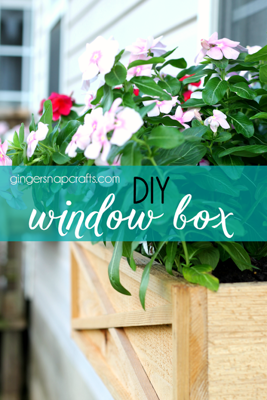 DIY WIndow Box at Gingersnapcrafts.com