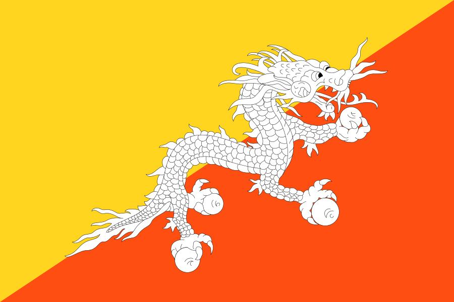 파일:부탄 국기.png