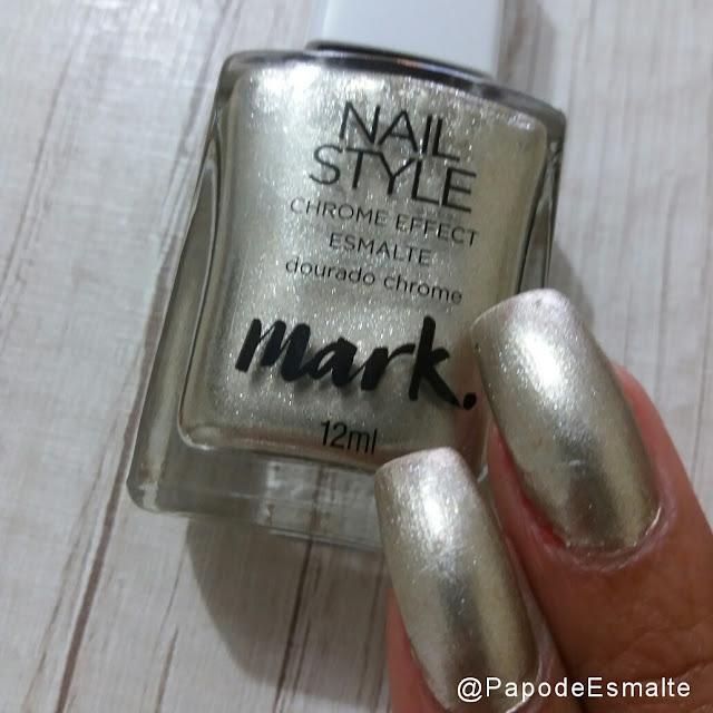 Esmalte Dourado Chrome - Avon Mark