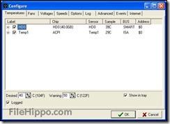 برنامج SpeedFan 4.52 لمراقبة درجة حرارة البروسيسور والهارد لويندوز -3