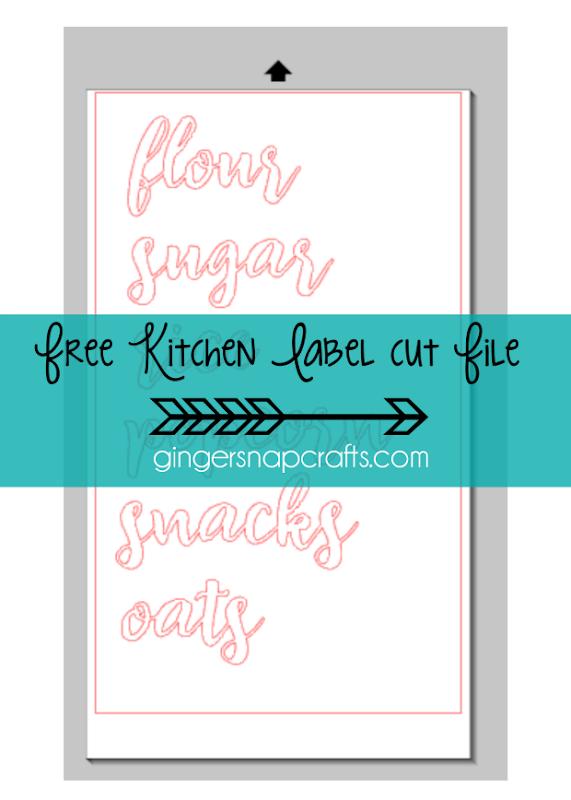 Free Kitchen Label Cut File at GingerSnapCrafts.com