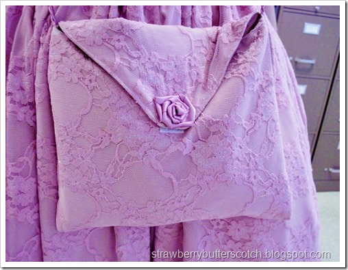 Pretty pink purse to match a pretty dress.