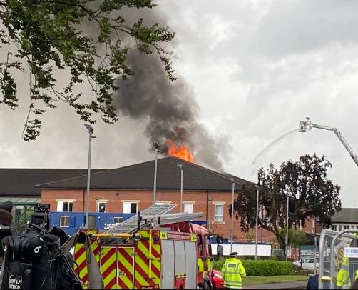 Trafford General Hospital set ablaze by lightning strike