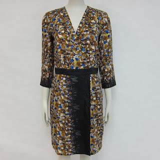 Tibi Printed Wrap Dress