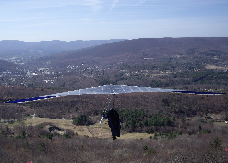 Tom L launching at the Mohawk Trail
