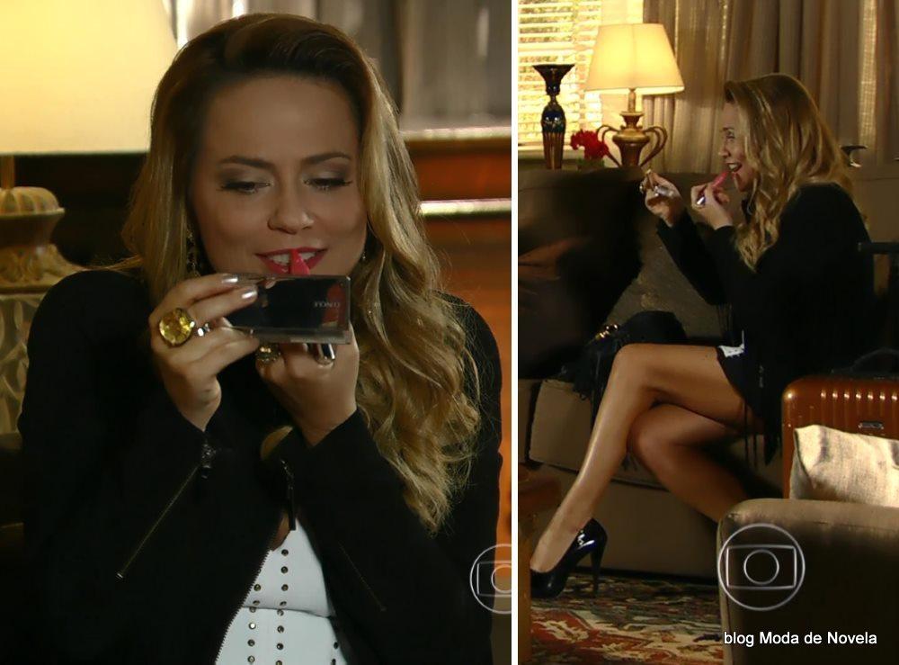 moda da novela Em Família - look da Shirley dia 19 de junho