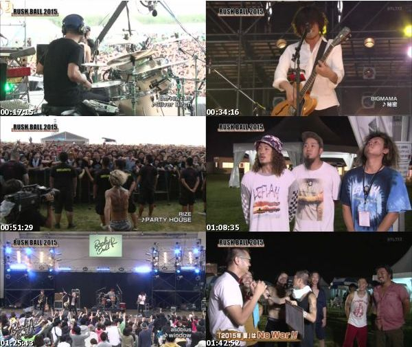 [TV-Variety] RUSH BALL 2015 拡大版 Day1 (NTV+ 2016.01.16)