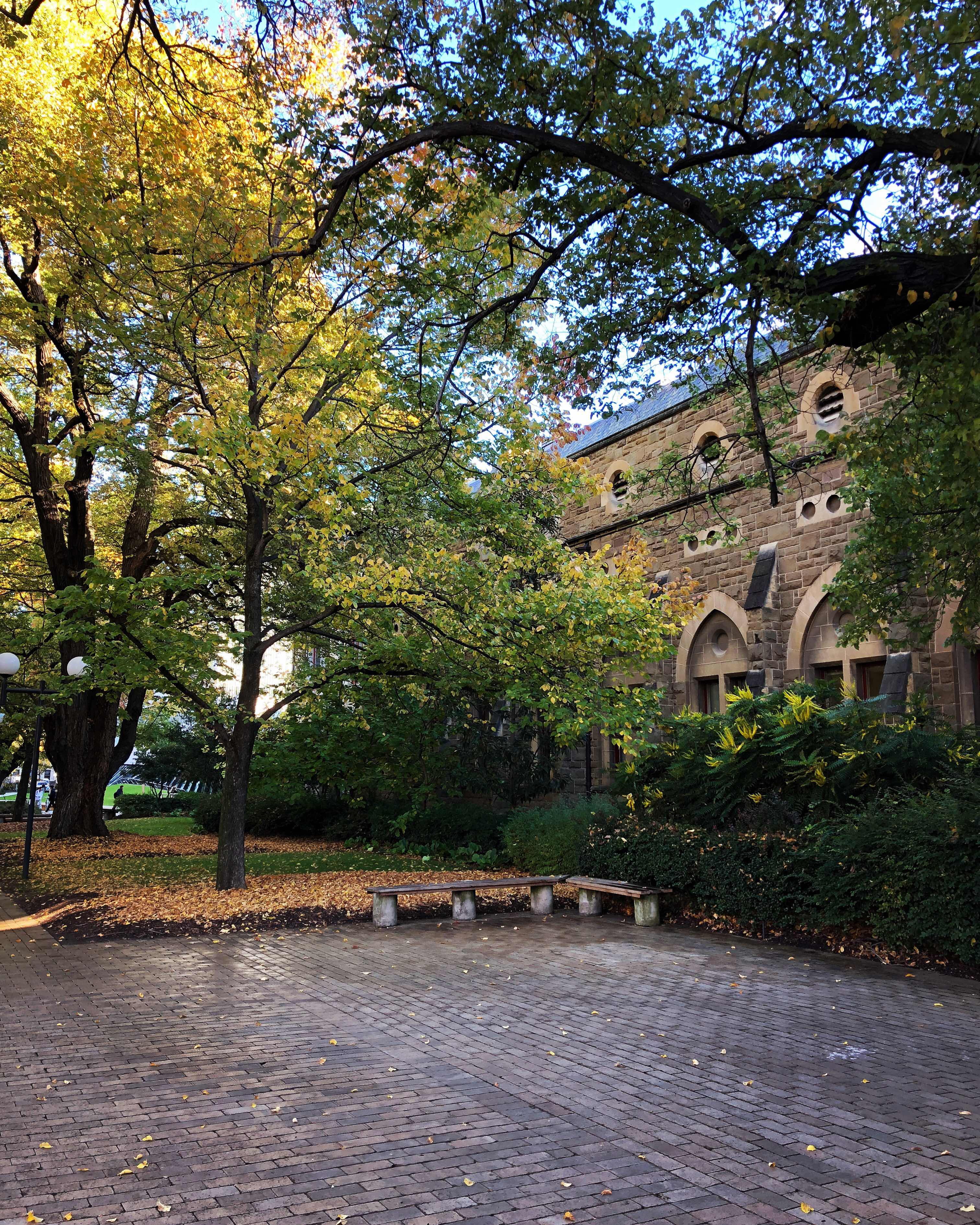 University of Melbourne campus in Autumn