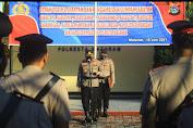 Sepuluh Pejabat Polresta Resmi Berganti, Kapolresta Mataram Pimpin Upacara Sertijab