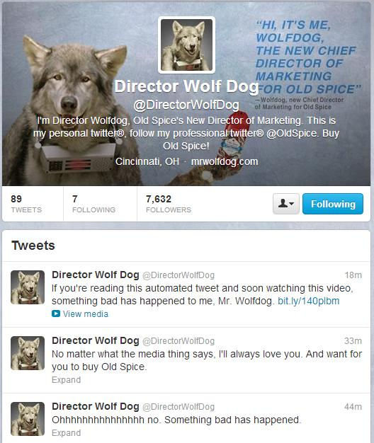 WolfDog aka Old Spice Director of Marketing Is In Some Kind Of Trouble