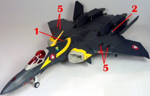 Macross Dynamite 7 VF-22S Sturmvogel II Gamlin Custom Armament weapon position