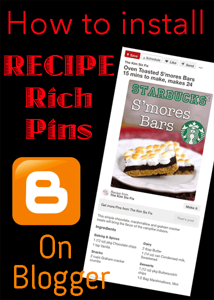 Recipe rich pins on blogger