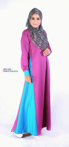 Jubah Nursing Friendly Breast Feed Menyusu Lavenzi Cotton Online Murah Purple Pink - Blue