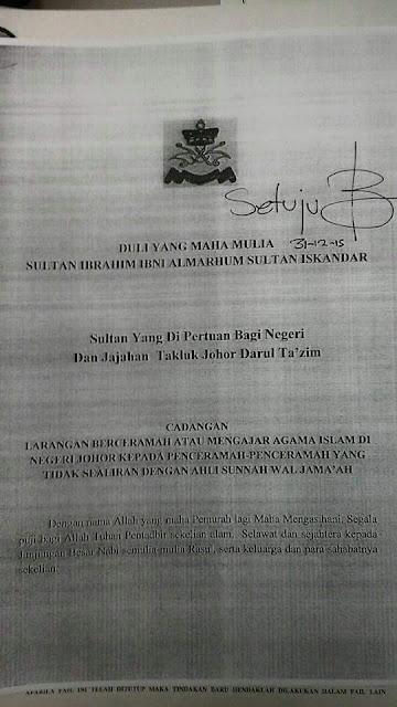 Senarai 16 orang dilarang berceramah di Johor