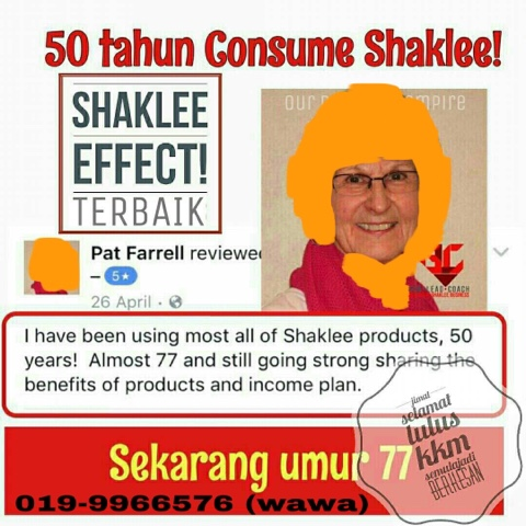 Elok Ke Makan Supplemen Shaklee?