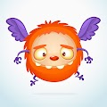 Cartoon Funny Monster Illustration Excited Monster Free Download Vector CDR, AI, EPS and PNG Formats