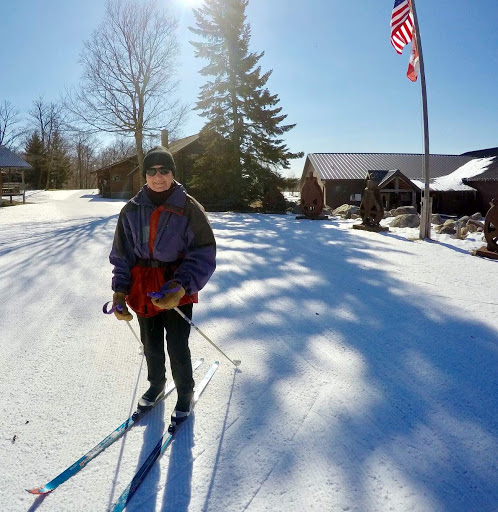 "81 years young ""Jean"" skiing most of the trails this week as well as crust cruising on the lakes! Just ski"