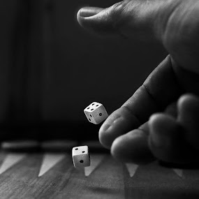 Dice by Azher S Saleh - Black & White Objects & Still Life ( black and white )