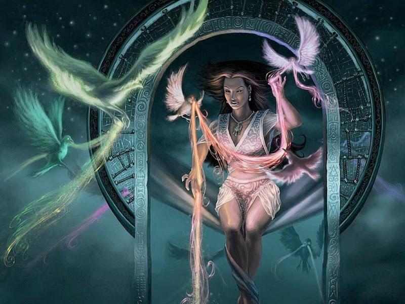 Birds Goddess, Goddesses