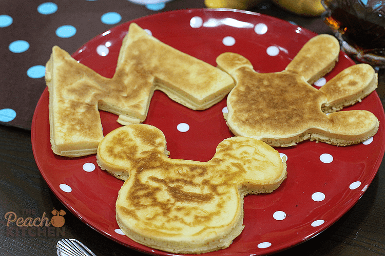 Fun snacking with maya fun cakes the peach kitchen if youre not using a silicone mold or a metal cutter its best to just cook the pancake and the cut out the shapes with your plastic cookie cutter ccuart Images