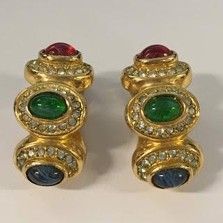 Christian Dior Vintage Costume Earrings