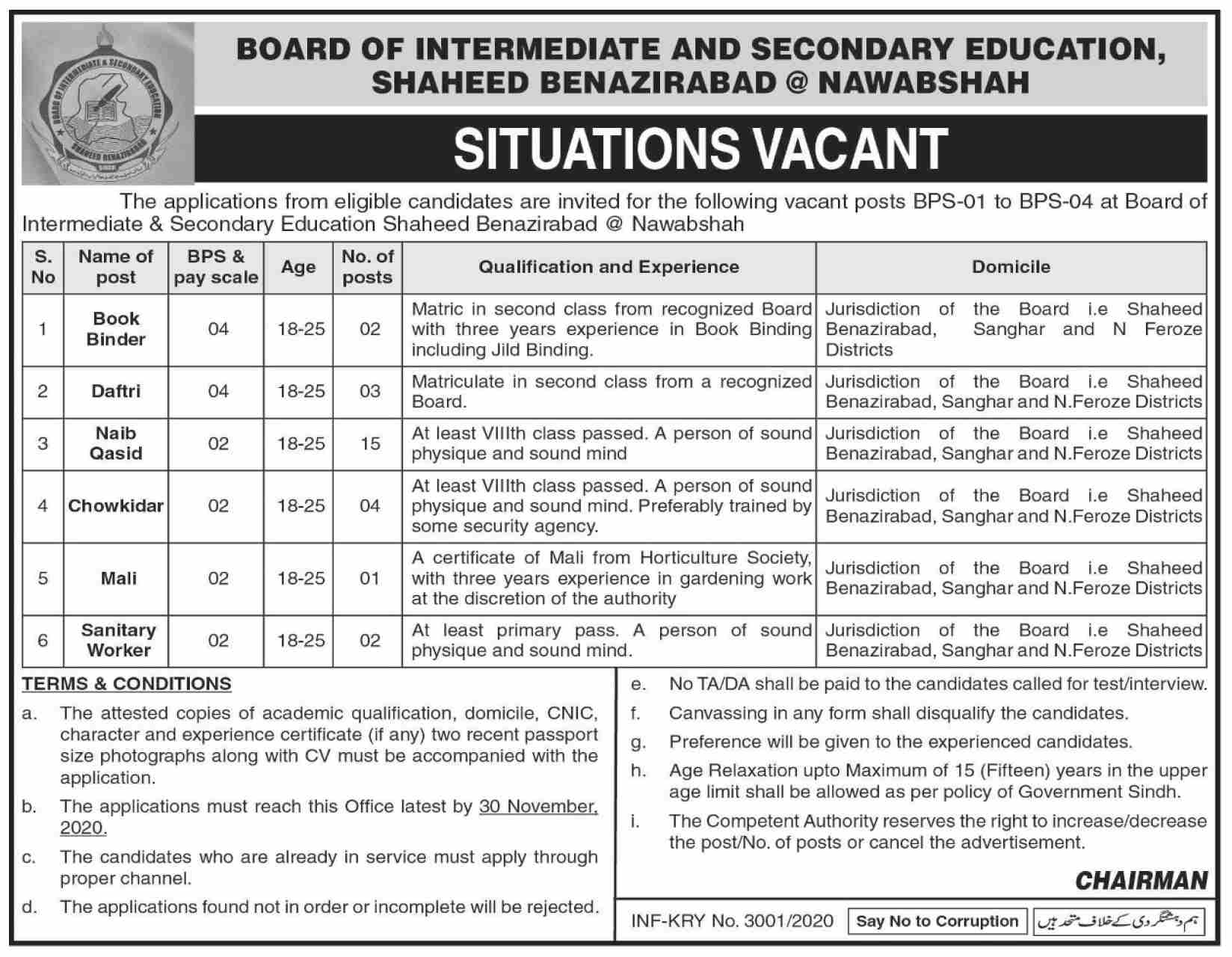 Metric Board Paper Checking Jobs 2020 Apply Online