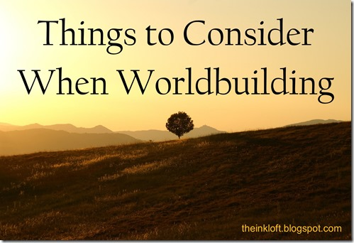 Things to Consider Worldbuilding