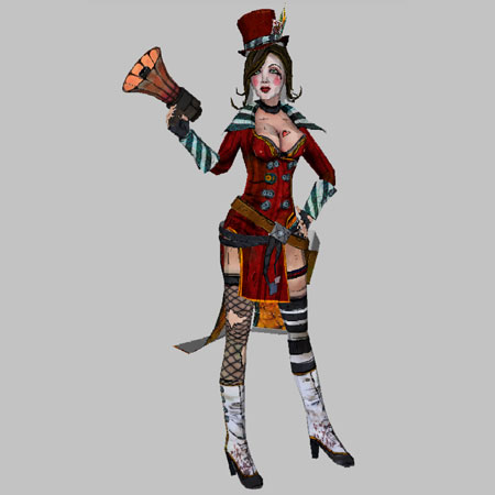 Mad Moxxi Papercraft
