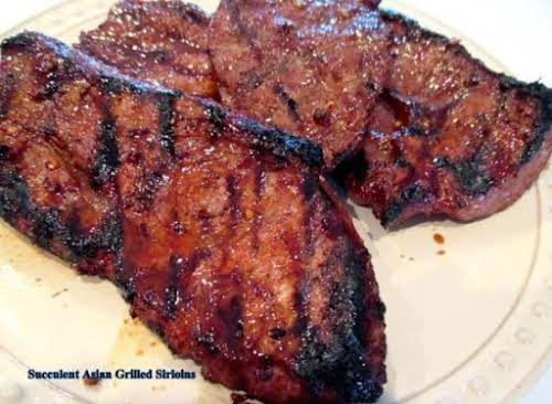 "Succulent Asian Grilled Sirloins""I love throwing marinades together with what I have..."