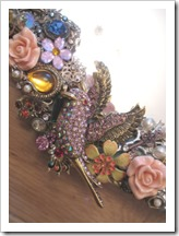 jewelled embellished mirror