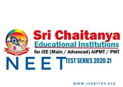 [PDF] Sri Chaitanya NEET Test Series 2020-21 Direct Link