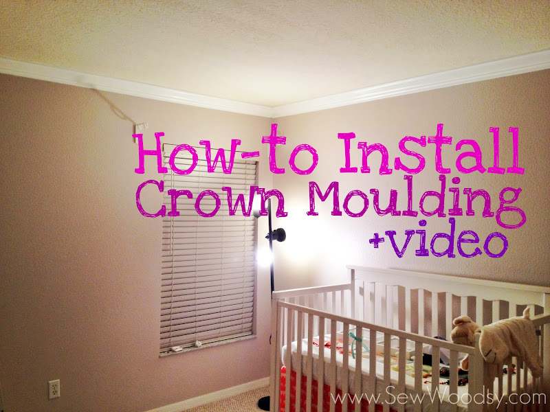 how-to install crown moulding via SewWoodsy.com created for @Homes.com #diy #crownmoulding