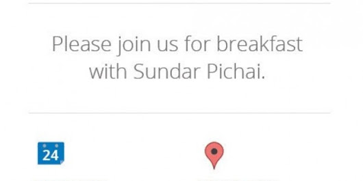 Watch the Breakfast with Sundar Pichai Google event Live here!