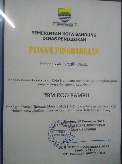 Di Penghujung Tahun ECO Bambu Dapat Penghargaan