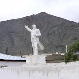 La statue de Lénine à Murghab, Pamir, 22 juillet 2007. Photo : F. Michel