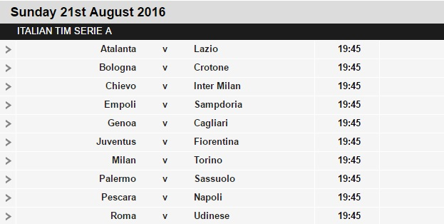 Serie%2BA%2Bschedule%2B1 Planning a Football Trip to Italy - SERIE A FIXTURES 2016/17