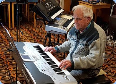 Skip Eade playing his Korg Pa1X.