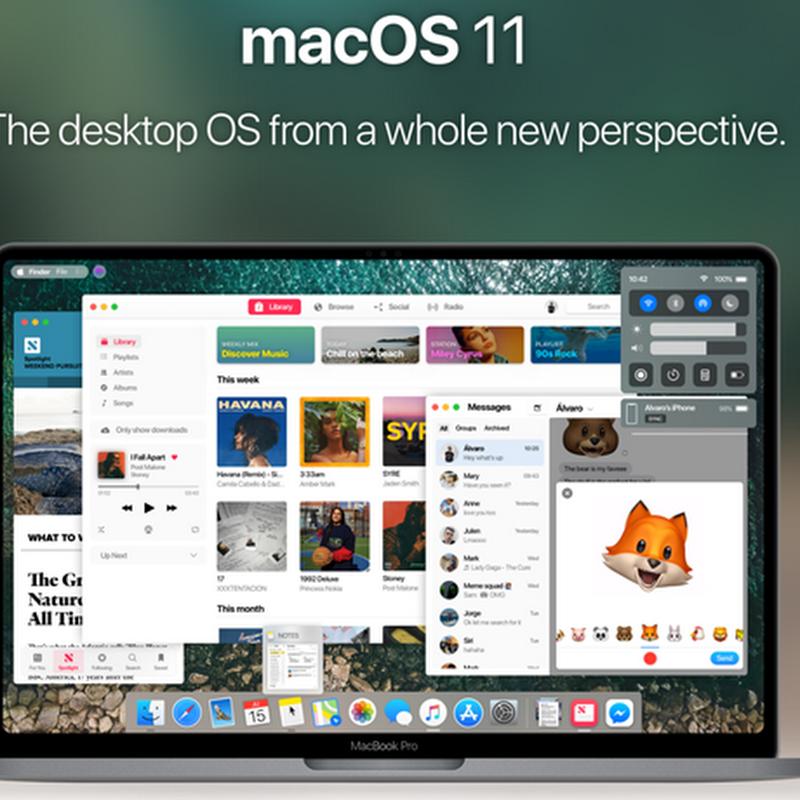Así se vería la nueva interfaz de MacOS