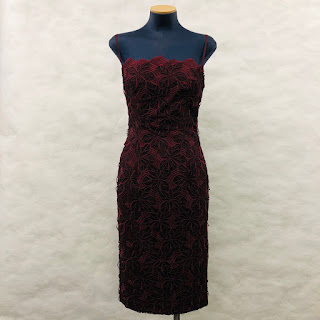 Black Halo Burgundy Lace Dress