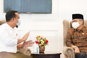 Bahas Pembangunan Kota Kelahiran BJ Habibi, Taufan Pawe Temui PLT Gubernur Sulsel