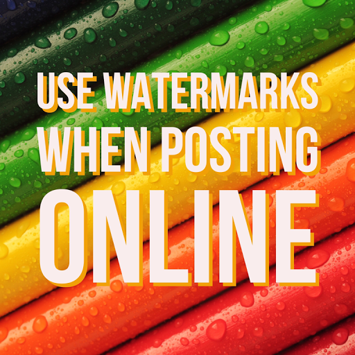 use watermarks when posting on social media and online