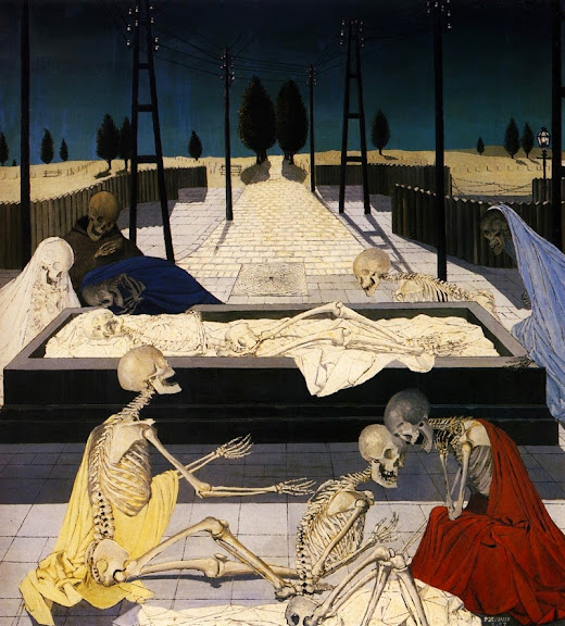 Paul Delvaux - The Focus Tombs, 1957