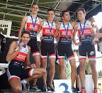 Équipe Homme de Triathlon 3e de la finale D3 à Noeux accède à la D2