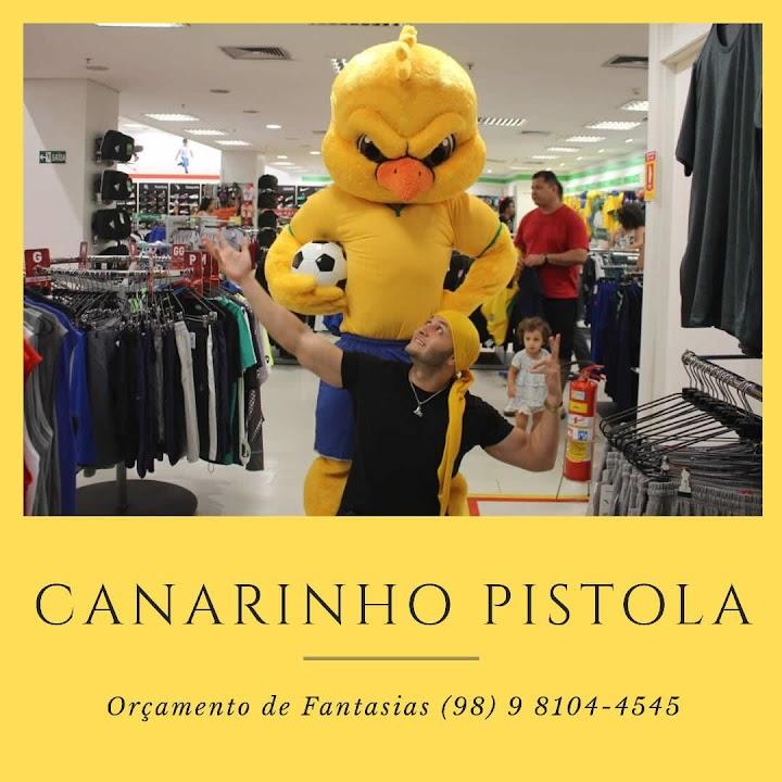 MASCOTE - Canarinho Pistola Putaço