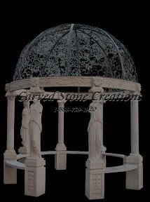 carved stone, Column, Dome, Exterior, Gallery, Gazebo, Gazebos, Landscape Decor, Statue