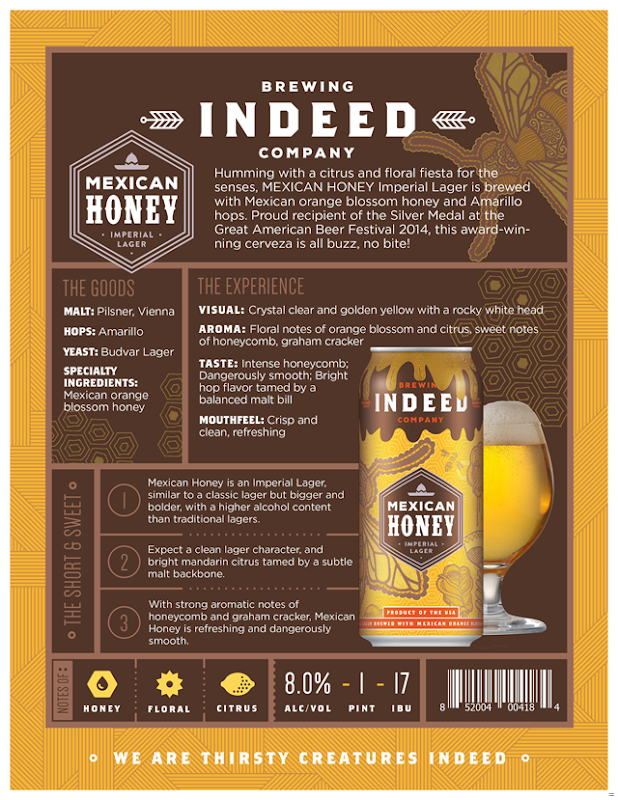 Indeed Brewing Mexican Honey Lager Returns