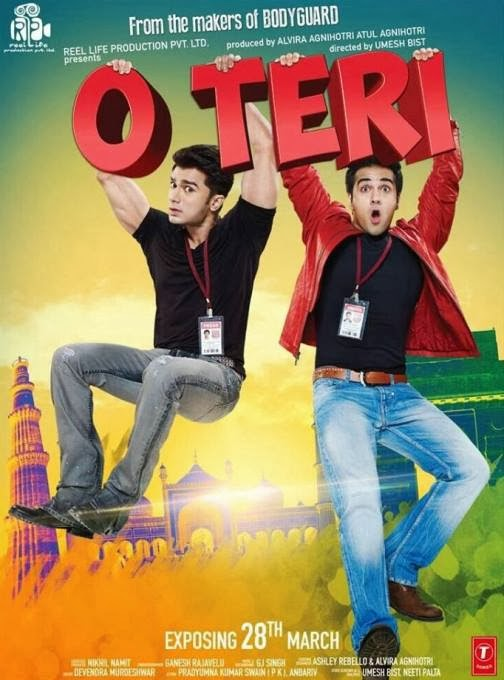 Poster Of Hindi Movie O Teri (2014) Free Download Full New Hindi Movie Watch Online At Alldownloads4u.Com