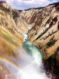 Yellowstone Falls with Rainbow