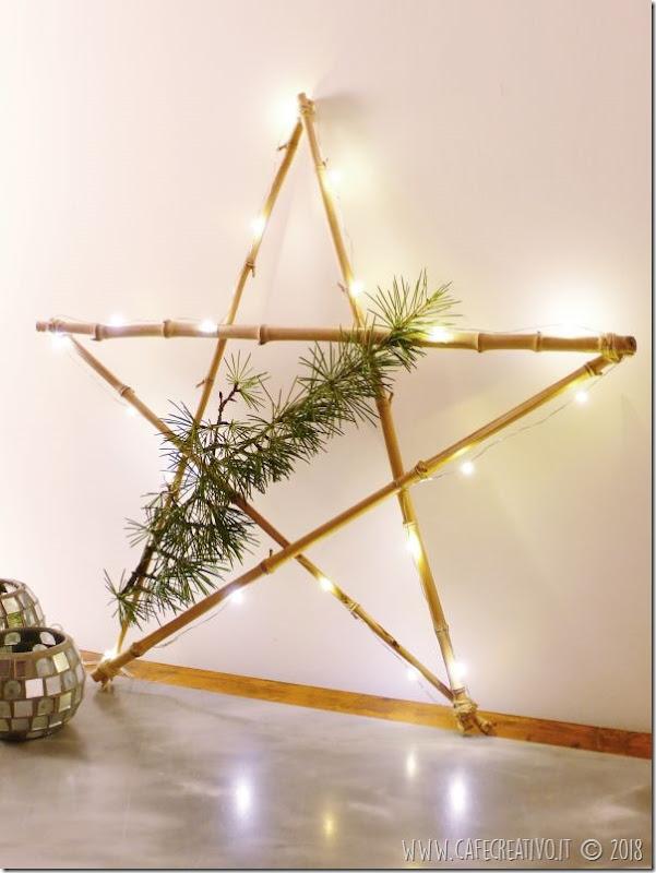 Natale fai da te: Stella di rami luminosa